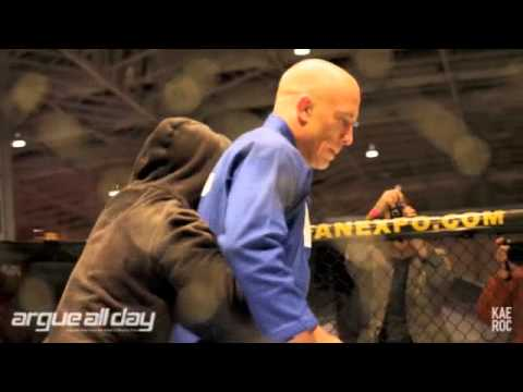 GSP: Kyokushin Kata Demo Stunt At UFC 129 Open Workouts Image 1