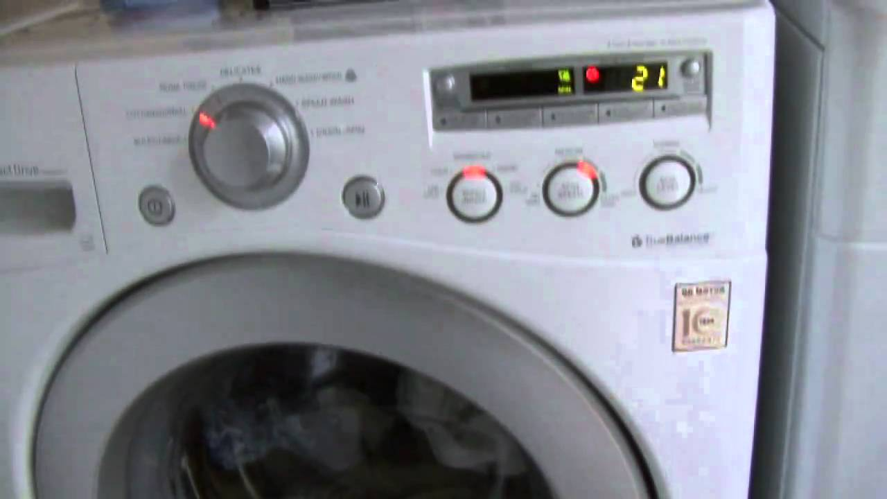 lg front loading washing machine problems