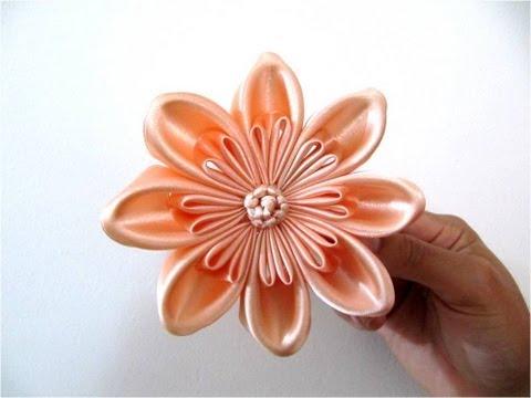 Mo ños  hermosos para el cabello en cintas flores pétalos triple dobles