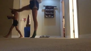 Girl Takes Out Brother During Dance Move