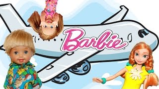 BARBIE AIRPLANE Go To DISNEYLAND! DisneyCarToys Frozen Family Meets AllToyCollector Barbie Parody