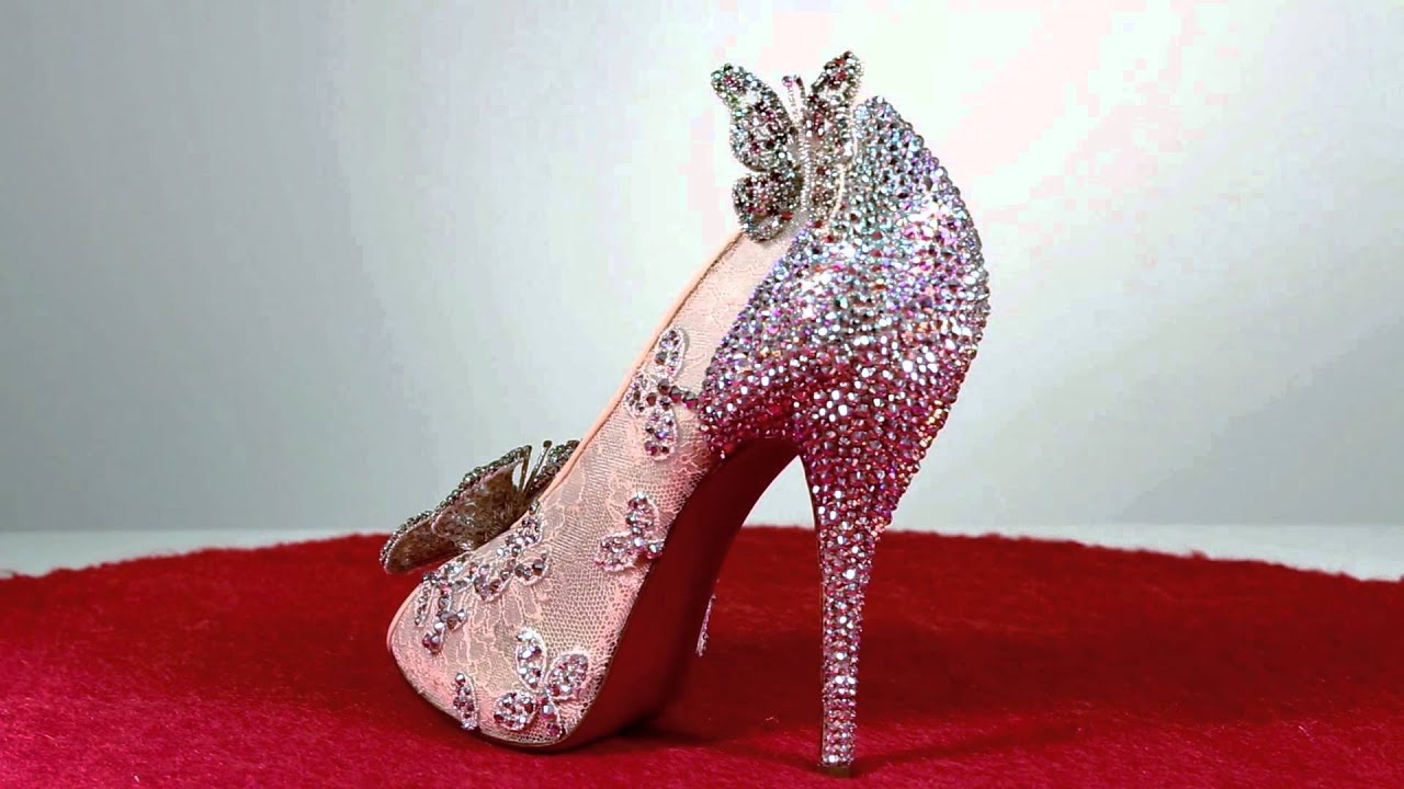 Designer Cinderella Wedding Shoes