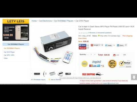 Car in-dash In Dash Stereo MP3 Player FM Radio USB SD card
