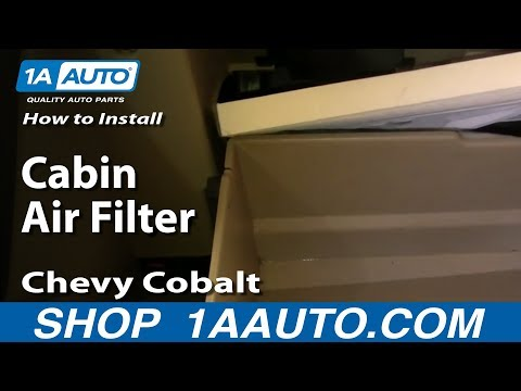 How To Install Replace Cabin Air Filter Chevy Cobalt 05-10 1AAuto.com