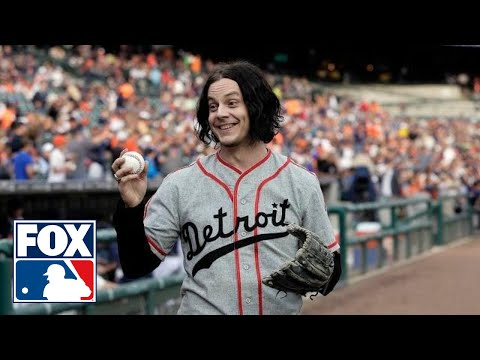 Jack White throws first pitch for hometown Tigers