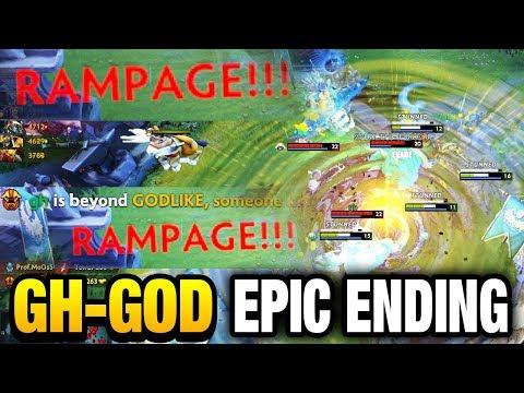 Gh-god 2x RAMPAGE 9800 MMR Earthshaker Mid  Dota 2