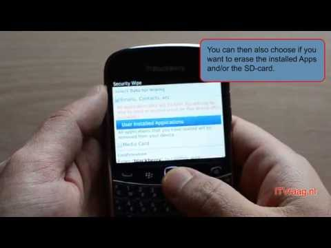 Blackberry Bold 9900: How to hard reset (wipe)