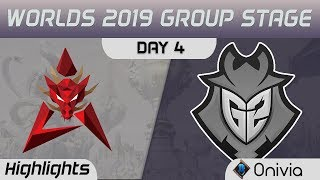 HKA vs G2 Highlights Worlds 2019 Main Event Group Stage Hong Kong Attitude vs G2 Esports by Onivia
