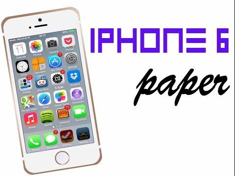 Как сделать iPhone 6 из бумаги (Айфон 6)