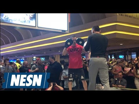 Max Holloway looked a bit slow and off during UFC 226 open workouts