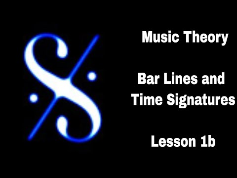 Grade 1 Music Theory - Bar Lines and Time Signatures - Lesson 2