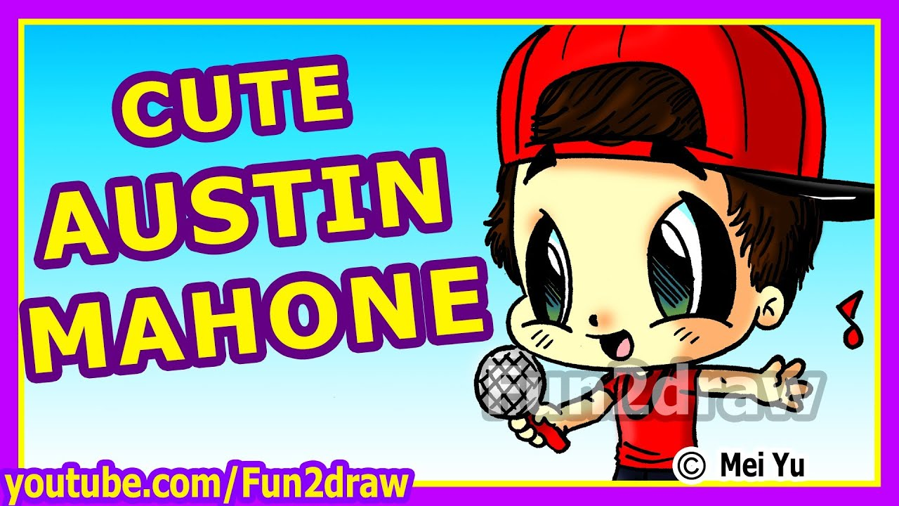 CUTE Austin Mahone - How to Draw People - Fun2draw - YouTube