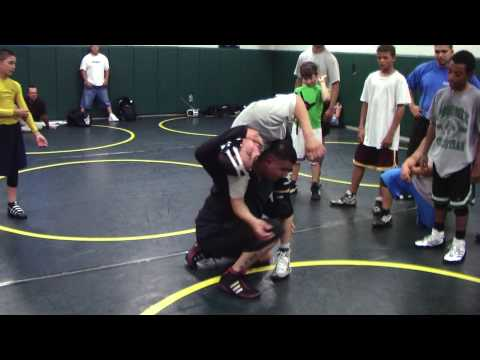 Richard Fimbres - Front Head Lock to a High Crotch Throw Freestyle Wrestling Image 1
