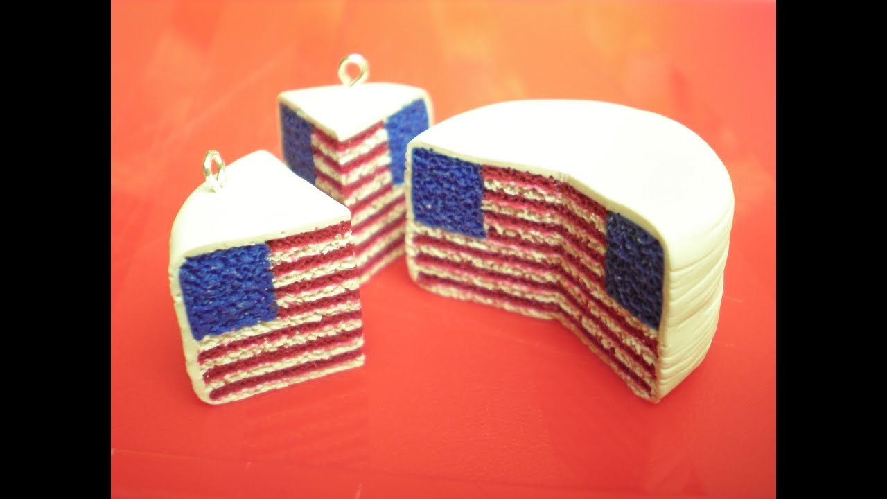 Clay Made Easy: American Flag Pattern Cake - YouTube