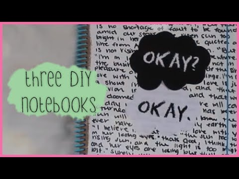 3 Diy Notebook Covers Tfios Chalkboard Amp Studded