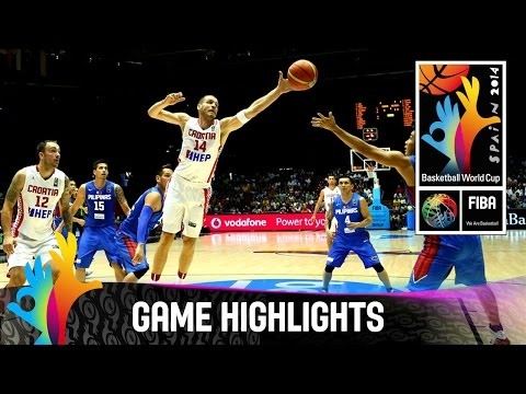 Croatia V Philippines - Game Highlights - Group B - 2014 Fiba Basketball World Cup video