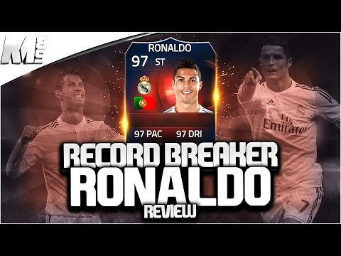 FIFA 15 RECORD BREAKER RONALDO REVIEW (97) FIFA 15 Ultimate Team Player Review + In Game Stats