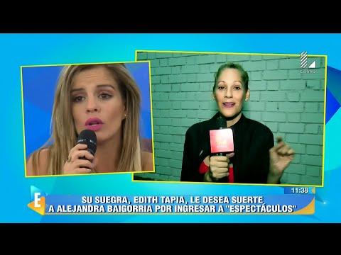 ESPECTÁCULOS 20/04/16 ALEJANDRA BAIGORRIA SE QUEBRÓ EN VIVO TRAS RECIBIR SORPRESA DE GUTY Y EDITH...