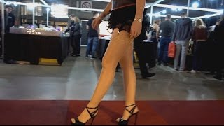Highheels walking on red carpet. Special for my fans who loved my legs and stockings. #012