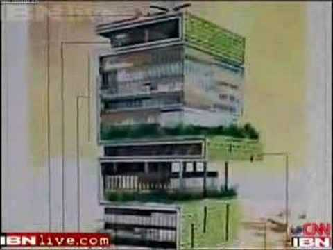 Mukesh Ambani's residence  Antilia June 2007 update