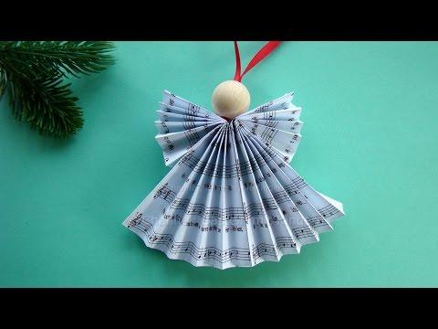 07:21 Weihnachtsengel Basteln   DIY Weihnachtsdeko   Weihnachtsbasteln    Engel Falten Weihnachten