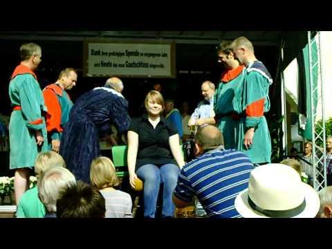 19. Gautschfest am Samstag, 20.08.2011 auf dem Markt in Haltern am See, Kornutin Sandra