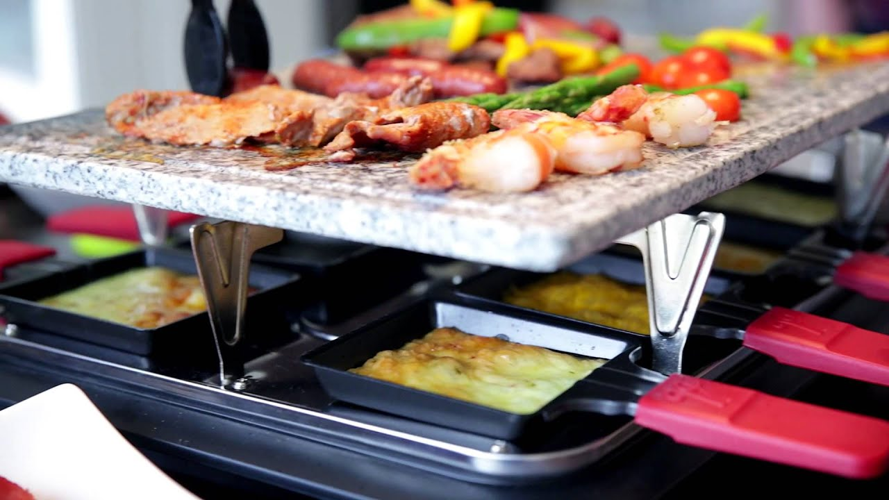 new velata raclette tabletop grill youtube. Black Bedroom Furniture Sets. Home Design Ideas
