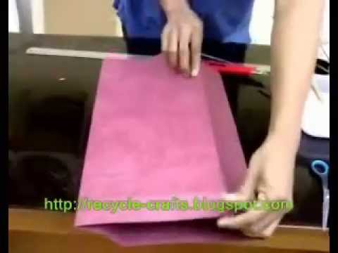 Making paper bags, Paper Crafts = http://recycle-crafts.blogspot.com