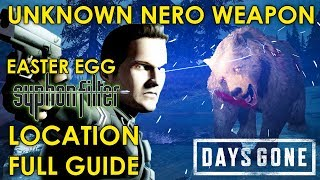 Days Gone UNKNOWN NERO WEAPON (HOW TO UNLOCK AND CRAFT) (EASTER EGG FULL GUIDE)