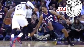 LeBron BREAKS Thabo Sefolosha ANKLES w/ The Vicious Crossover!! LOL - 12/17/2014
