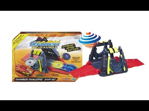 Beyblade BeyRaiderz Chamber Challenge Stunt Set Unboxing Review Giveaway Exp Feb 23th 2014