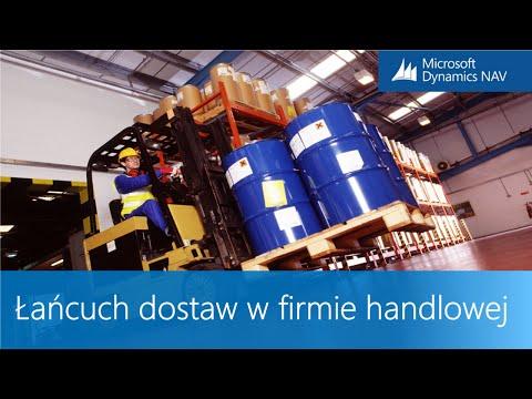 Łańcuch dostaw w firmie handlowej w systemie ERP Microsoft Dynamics NAV