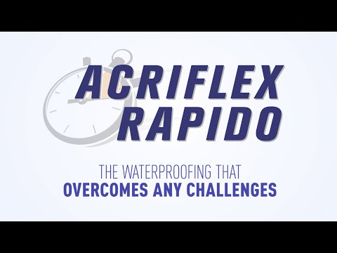 Acriflex Rapido - Fast-drying waterproofing