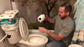How to clog and unclog a stopped up toilet that won't flush