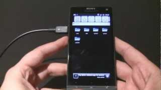 Sony Xperia S USB OTG demo