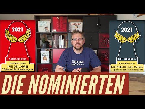 Spiel des Jahres + Kennerspiel 2021 - Nominierten + Empfehlungsliste
