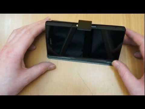 Official Sony Xperia Z Case Review - Muvit Slim n Stand