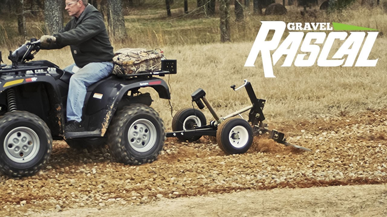 Landscape Rake Vs Rear Blade : Gravel rascal atv driveway grader landscape rake