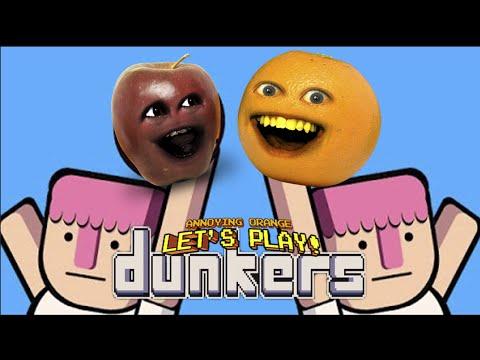 Midget Apple Plays - Dunkers (w/ Annoying Orange) RAGE QUIT