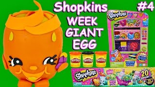 ~☀*★~ SHOPKINS WEEK ~★*☀~ Juicy Orange PLAY DOH SURPRISE EGG + SHOPKINS Vending Machine Storage Tin