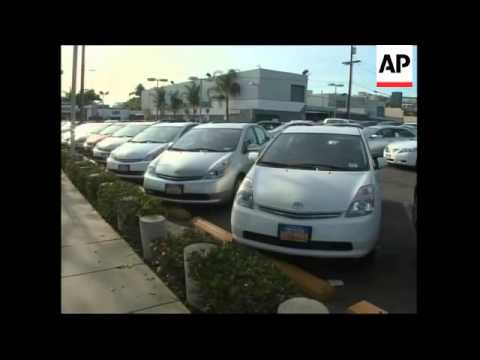 Stockpile of unsold cars at port outside LA