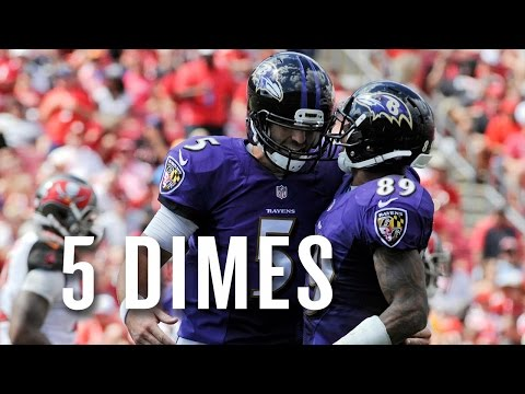 Watch all of Joe Flacco's ridiculous five first half TD passes vs. the Bucs