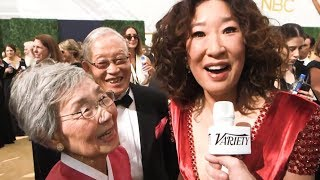 Sandra Oh brought her parents to the Emmys