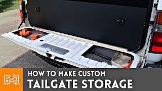 Custom Tailgate Storage // Land Cruiser