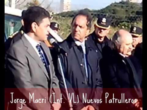 Jorge Macri (Intendente Vicente López) Presentacion Nuevos Patrulleros