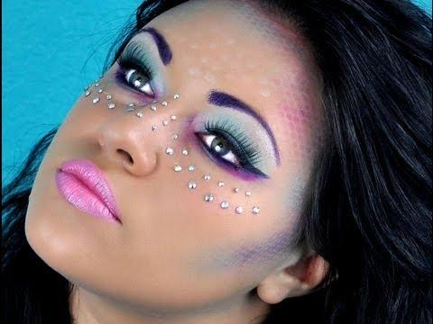 mermaid makeup tutorial for halloween  youtube