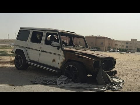 Mercedes G-Class Burst Into Flames In Dammam, Saudi Arabia