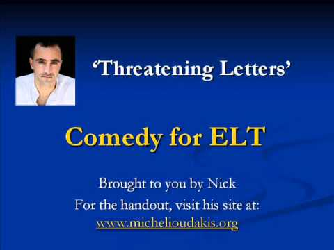 Comedy for ELT - The Threatening Letter
