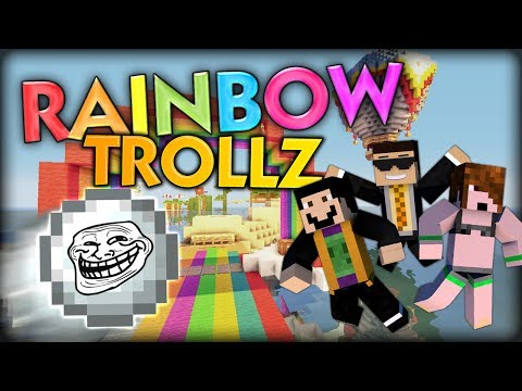 THE RAINBOW SNOW TROLL LAUGH EDITION Minecraft Summer Battle Sprint Parkour