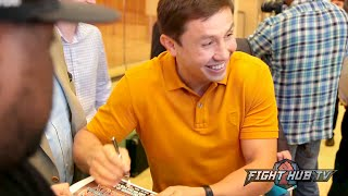 Watch fans in New York go Crazy for Gennady Golovkin! - Golovkin vs. Lemieux video